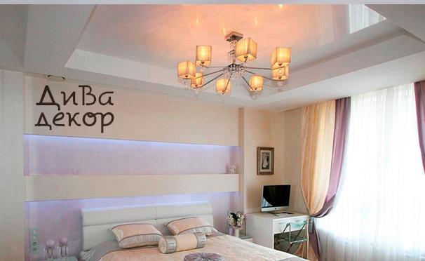 Скидка на Тканевый или виниловый натяжной потолок с точечными светильниками в подарок от компании «Дива декор». Скидка до 90%