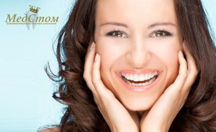 УЗ-чистка зубов в клинике «МедСтом»