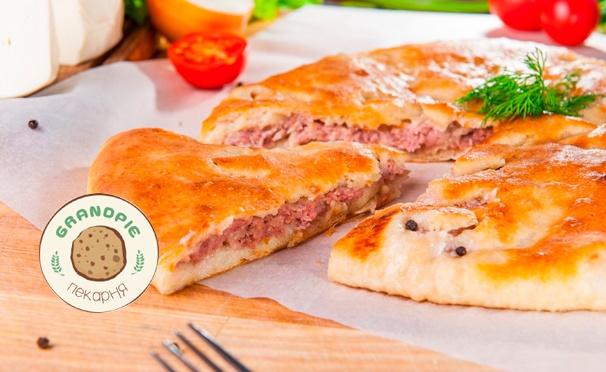 Скидка на Скидка до 60% на ароматную пиццу и сытные осетинские пироги от компании GrandPie