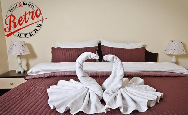 Скидка на Отдых в гостинице «Retro отель»: проживание в номере выбранной категории, завтраки, Wi-Fi, ТВ и не только. Скидка 50%