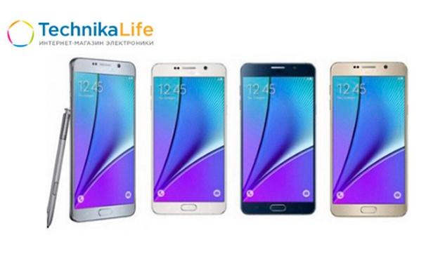 Смартфоны Galaxy Note 5, Galaxy S6 и Galaxy S7 от интернет-магазина Technika Life. Скидка до 66%
