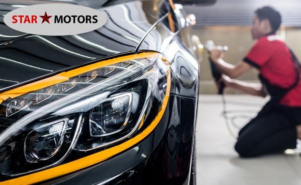 Скидка на Полировка автомобиля по технологии 3М или покраска деталей в автотехцентре «Стар Моторс». Скидка до 86%