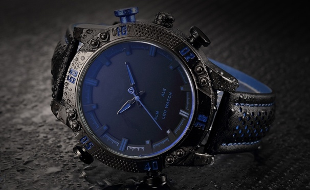 Скидка на Мужские кварцевые электронные часы от интернет-магазина Olgoods. Скидка 60%