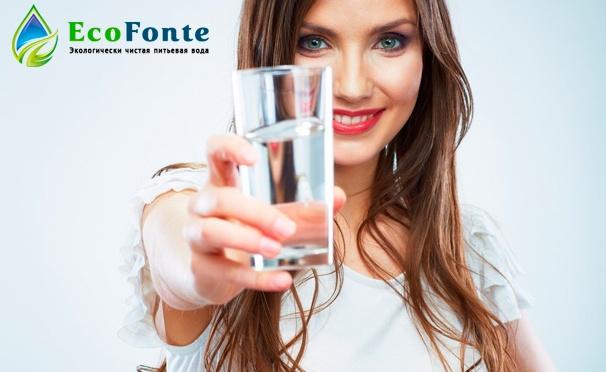 Скидка на Доставка воды высшей категории в бутылях по 19 л от компании EcoFonte. Скидка до 69%